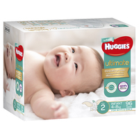 Huggies Ultimate Nappies: Jumbo Pack - Size 2 Infant (96) image