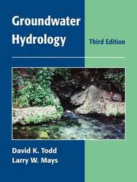 Groundwater Hydrology by David Keith Todd image