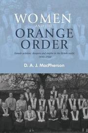 Women and the Orange Order by D. A. J. MacPherson