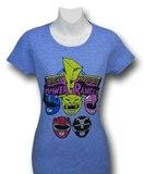 Power Rangers Heads Women's T-Shirt (Small)