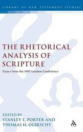 Rhetorical Analysis of Scripture by Stanley E. Porter