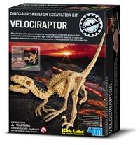 4M: Excavation Kits - Velociraptor Skeleton