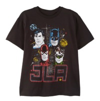 Justice League - Black Boys T-Shirt (Small)
