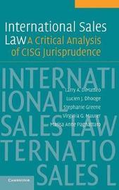 International Sales Law by Larry A. DiMatteo