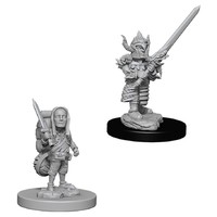 D&D Nolzurs Marvelous: Unpainted Miniatures - Male Halfling Fighter