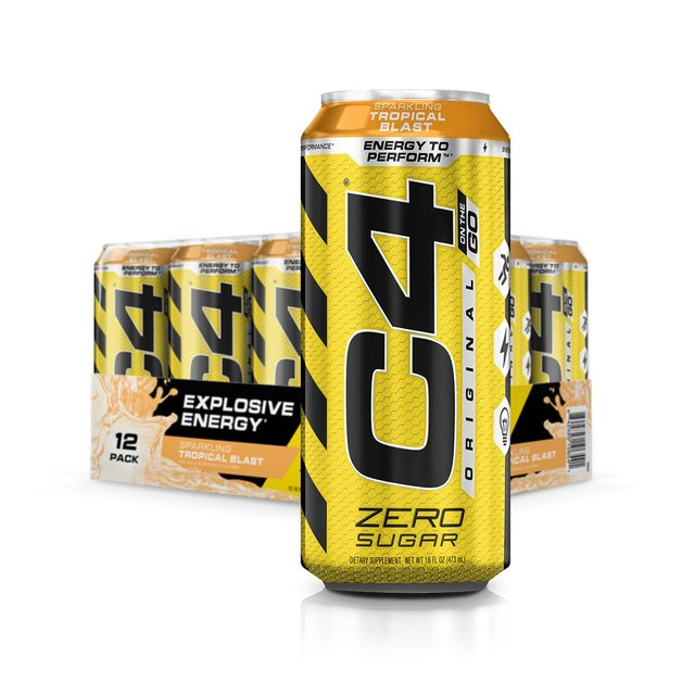 Cellucor: C4 Carbonated On-The-Go RTD - Tropical Blast (473ml)