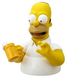 The Simpsons: Homer Simpson with Beer - Bust Bank