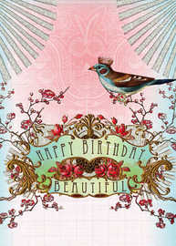 Papaya: Happy Birthday Beautiful Card