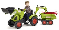 Falk: Claas Pedal Tractor - With Excavator, Trailer & Tools
