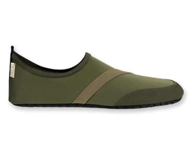 Fitkicks: Mens Foldable Footwear - Green (X-Large)