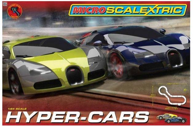 Scalextric Micro Hyper-Cars 1/64 Slot Cars Set