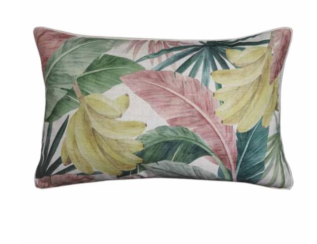 Madras Link: Costa Rica Cushion (Pink/Green)