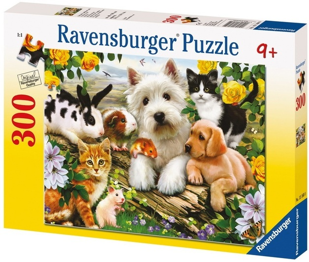 Ravensburger 300 Piece Jigsaw Puzzle - Happy Animal Babies