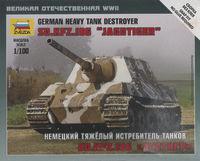 Zvezda 1/100 German Jagdtiger Tank Destroyer Scale Model Kit