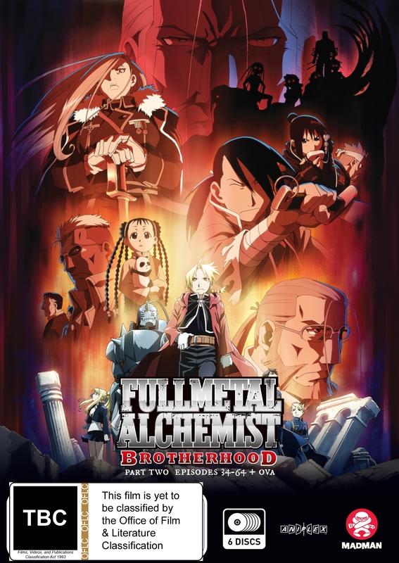 Fullmetal Alchemist: Brotherhood - Part 2 (Eps 34-64 + Ova) on DVD
