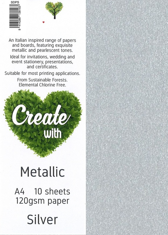 Metallic Paper A4 120gsm - Silver (10 Pack)