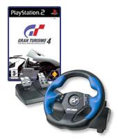 Gran Turismo 4 + Logitech Driving Force Wheel for PlayStation 2