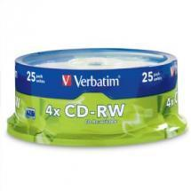 Verbatim CD-RW 700MB 25Pk Spindle 4x