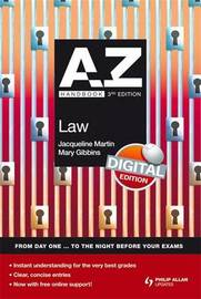 A-Z Law Handbook by Jacqueline Martin image