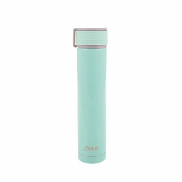 Oasis Skinny Mini Stainless Steel Insulated Drink Bottle - Mint (240ml)