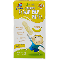 Little Quacker: Sprouted Brown Rice Puffs - Banana (20g) image