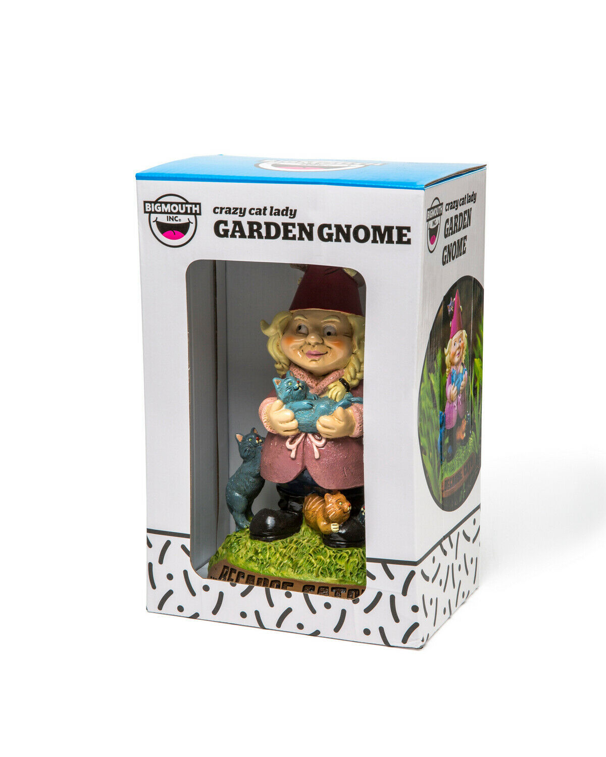 BigMouth – The Crazy Cat Lady Garden Gnome image