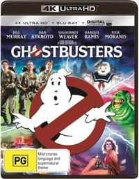 Ghostbusters on UHD Blu-ray, UV