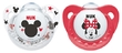 NUK: Mickey Silicone Soothers - 0-6 Months - Red & White (2 Pack)
