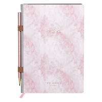 Ted Baker: A5 Notebook with Pencil - Rose Quartz
