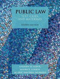 Public Law by Andrew Le Sueur
