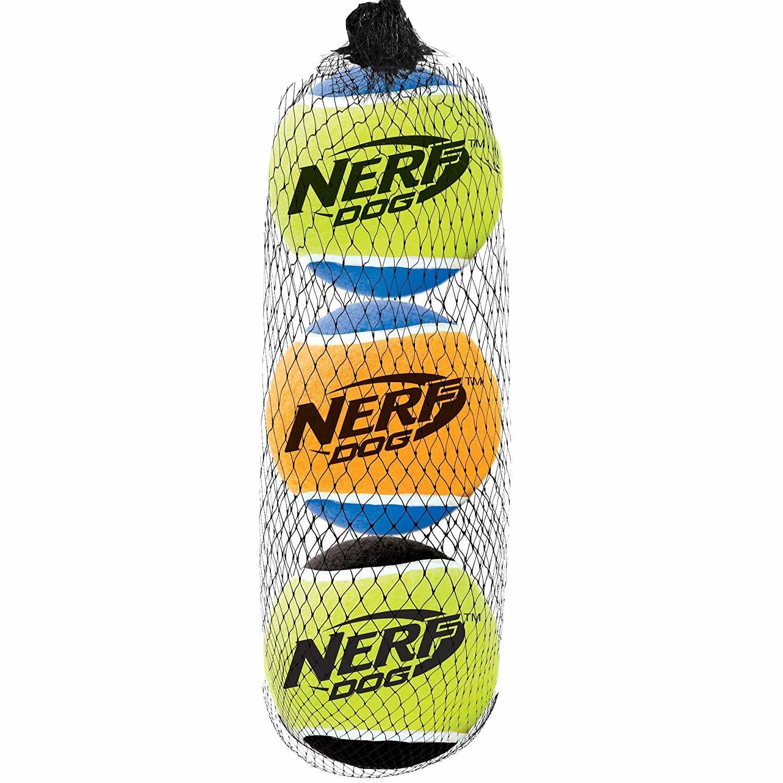 Nerf Dog Squeak Tennis Ball 3pk image