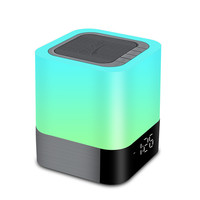 Bluetooth Speaker Alarm Clock with Night Lamp image