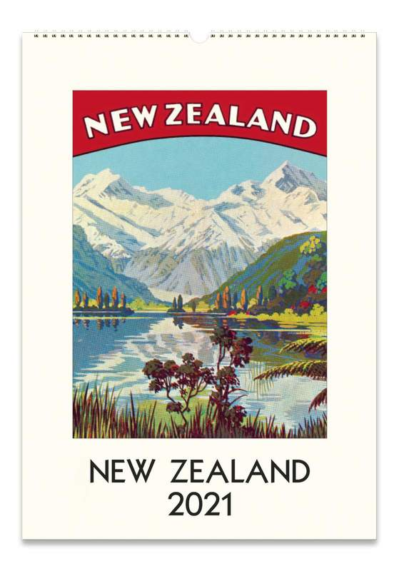 Cavillini & Co.: New Zealand 2021 Wall Calendar