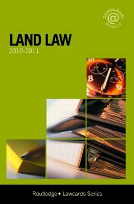 Land Lawcards: 2010-2011 by Routledge Chapman Hall
