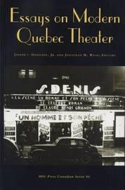 Essays on Modern Quebec Theater image
