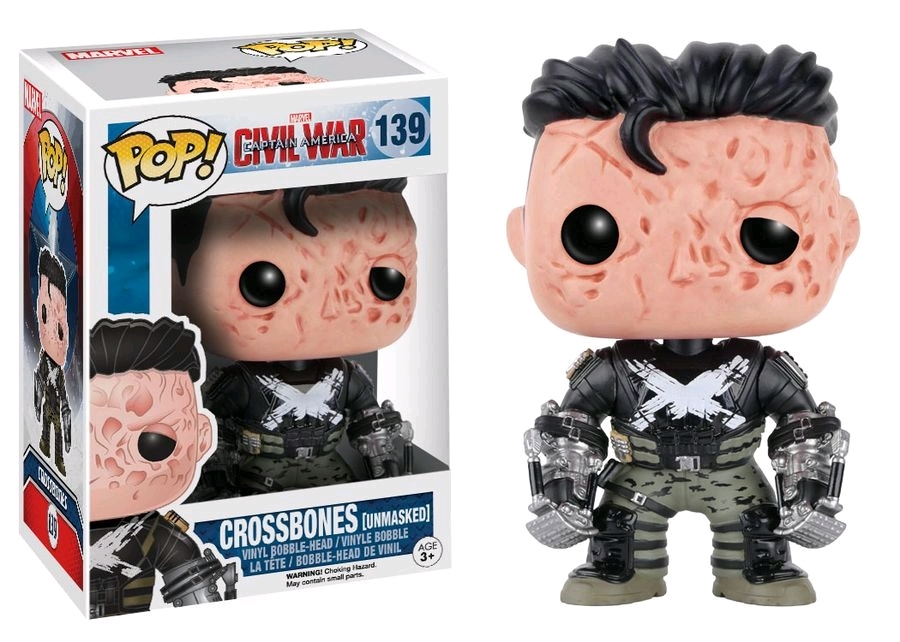Captain America 3 - Crossbones (Unmasked) Pop! Vinyl Figure image