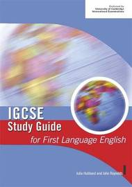IGCSE Study Guide for First Language English by John Reynolds image