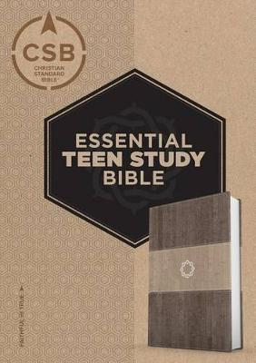 CSB Essential Teen Study Bible, Weathered Gray Cork Leathertouch by Csb Bibles by Holman