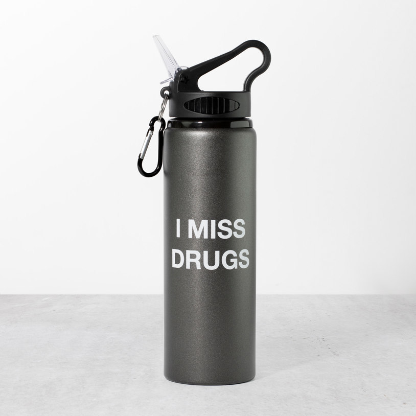 I Miss Drugs Water Bottle image