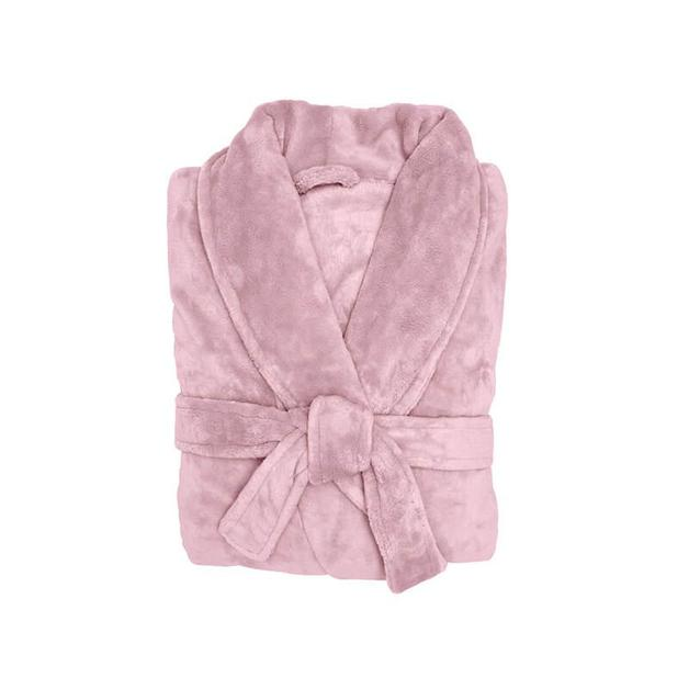 Bambury Blush Microplush Robe (Large/Extra Large)