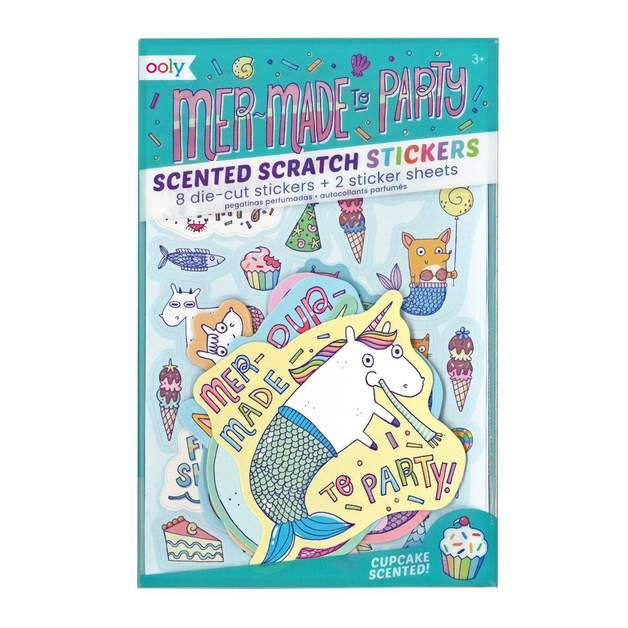 Ooly: Sticker Sheets - Cupcake Scented Mer-Made to Party