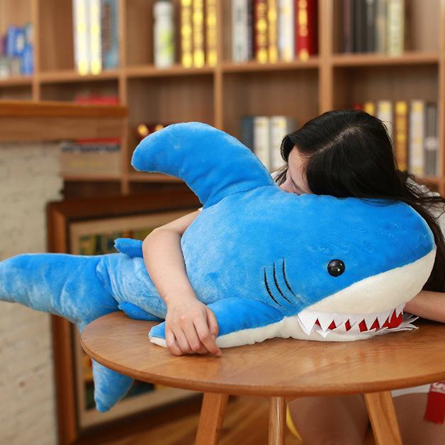 Biting Shark - Blue (90cm)