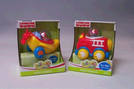 Fisher Price Roll a Round Action Vehicles
