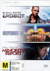 I, Robot / Minority Report / Independence Day (3 Disc Set) on DVD image