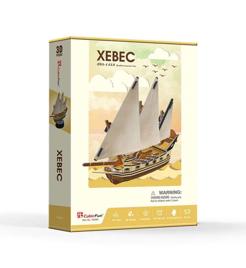 Cubic Fun: Xebec - 53 Piece 3D Puzzle image
