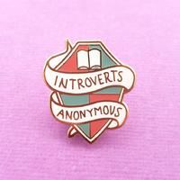 Jubly-Umph Introverts Anonymous Lapel Pin