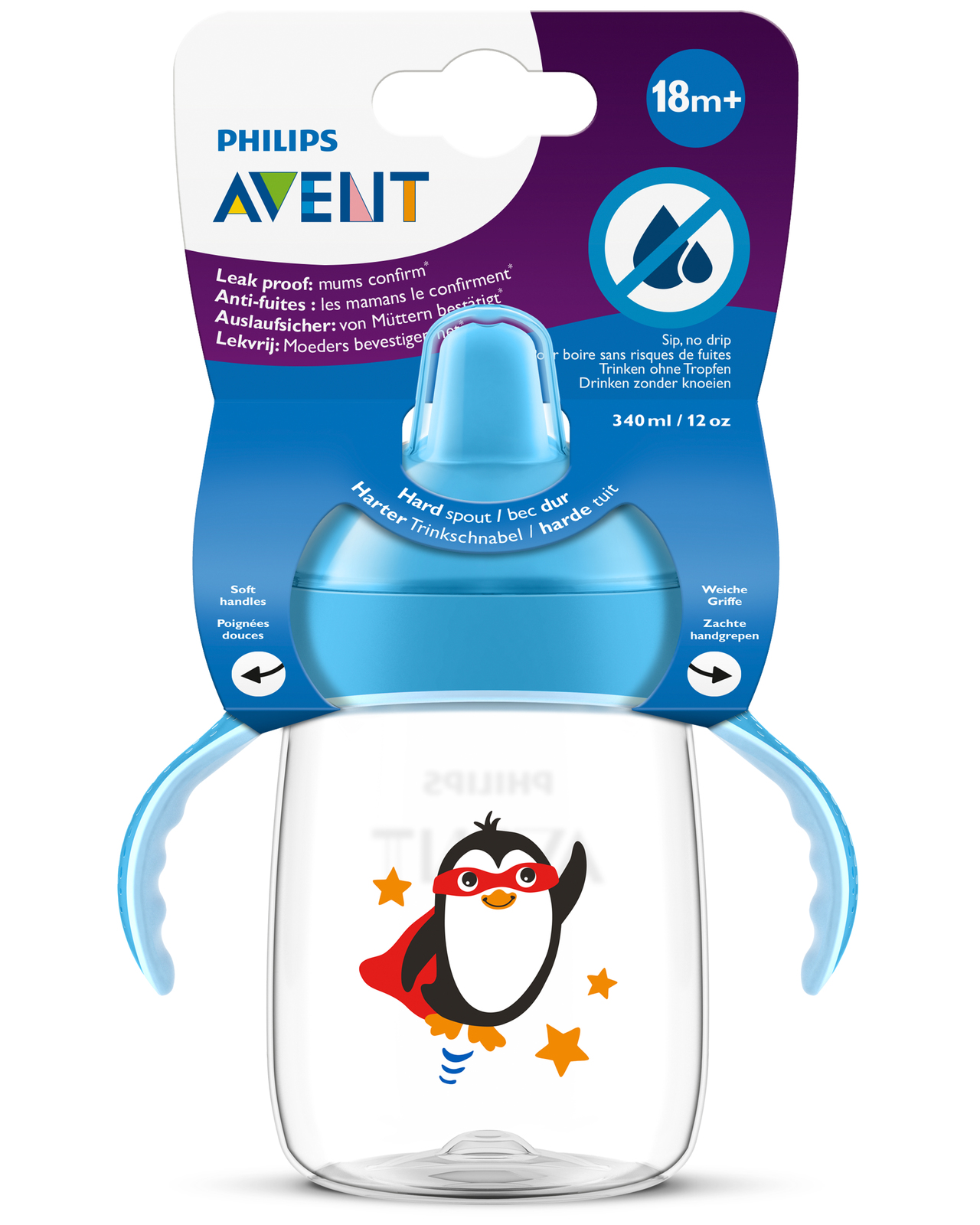 Avent: Sip No Drip - Blue (340ml) image