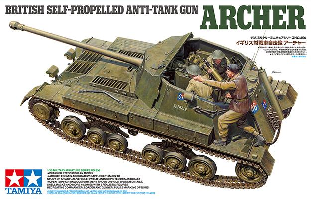 Tamiya 1/35 British Anti Tank Gun Archer - Self Propelled Model Kit