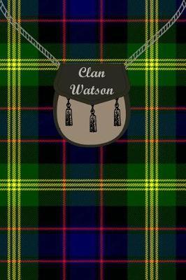 Clan Watson Tartan Journal/Notebook by Clan Watson