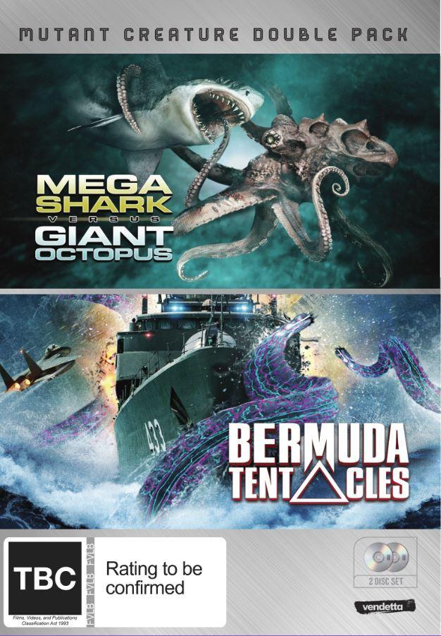 Mutant Creature Double Pack: Mega Shark vs. Giant Octopus & Bermuda Tentacles on DVD image